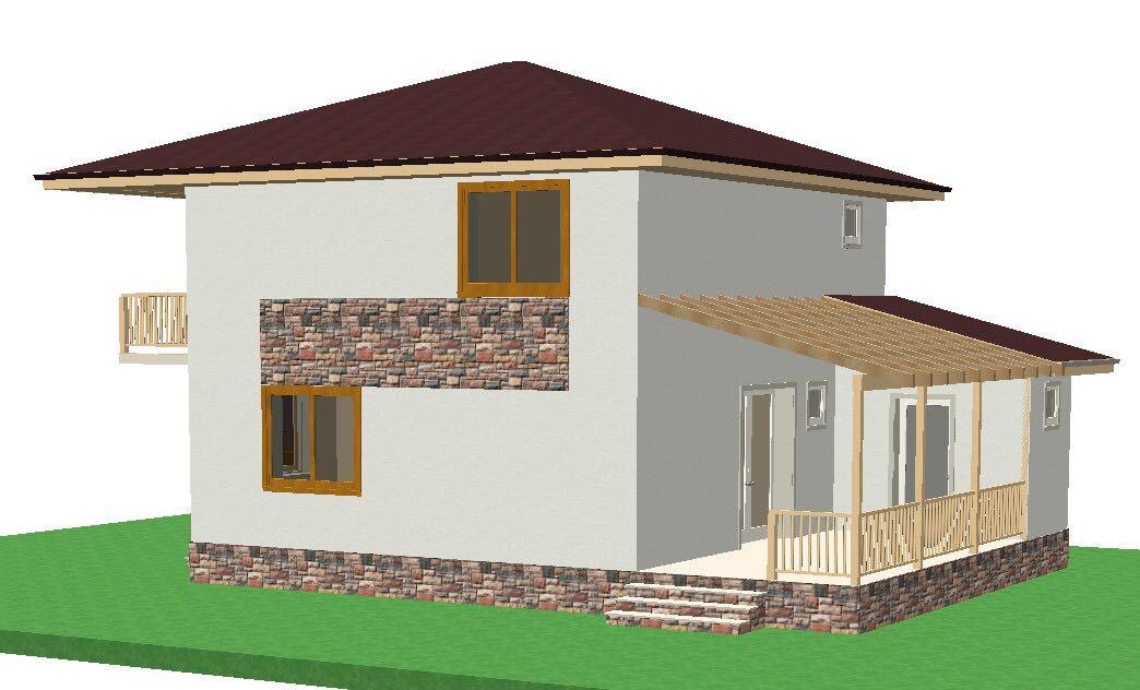 casa cubic lateral terasa